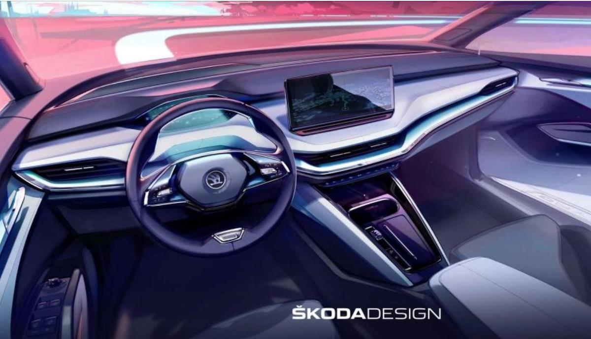 內裝採用 13 吋中控螢幕取代大量實體按鍵,並有望配置按鍵式排檔。