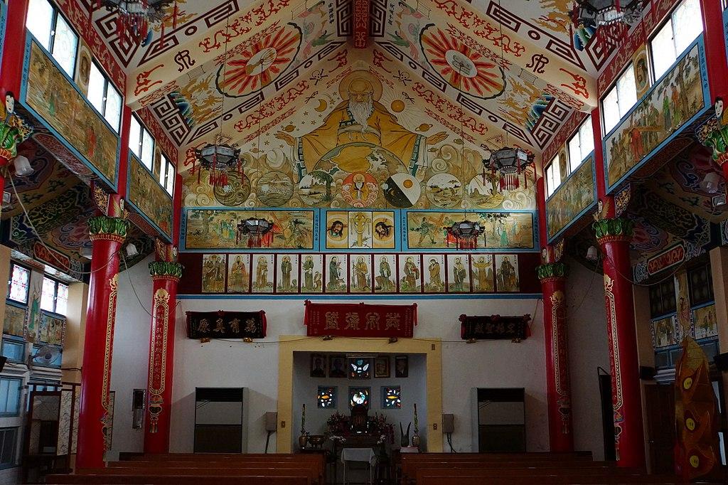 鹽水天主聖神堂 (Photo by lienyuan lee, License: CC BY 3.0, 圖片來源web.archive.org/web/20161031223500/http://www.panoramio.com/photo/114491778)
