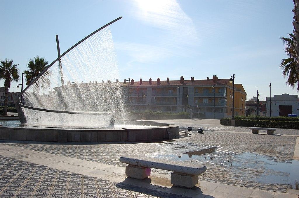 水船噴泉 (Photo by Juan Andres Martinez, License: CC BY 2.0, 圖片來源commons.wikimedia.org/wiki/File:Valencia_boat_fountain.jpg)