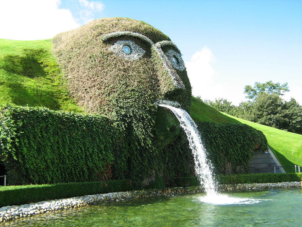 施華洛世奇噴泉 (Photo by BKP, License: CC BY-SA 3.0, Wikimedia Commons提供)