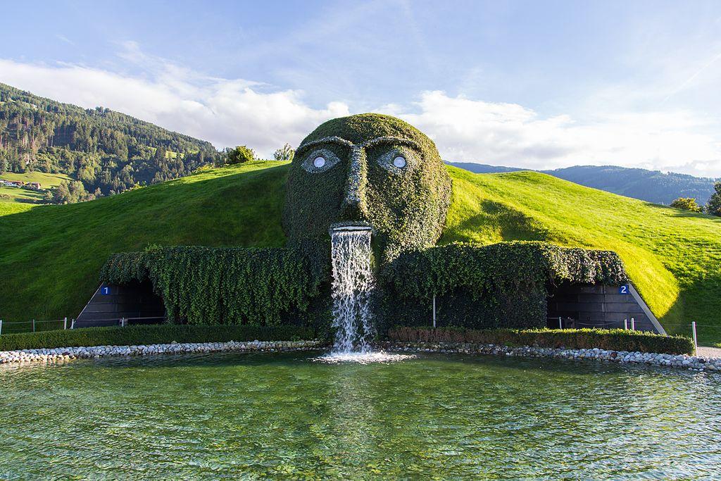 施華洛世奇噴泉 (Photo by Anton Nikiforov, License: CC BY 3.0, 圖片來源web.archive.org/web/20161029174705/http://www.panoramio.com/photo/97024105)