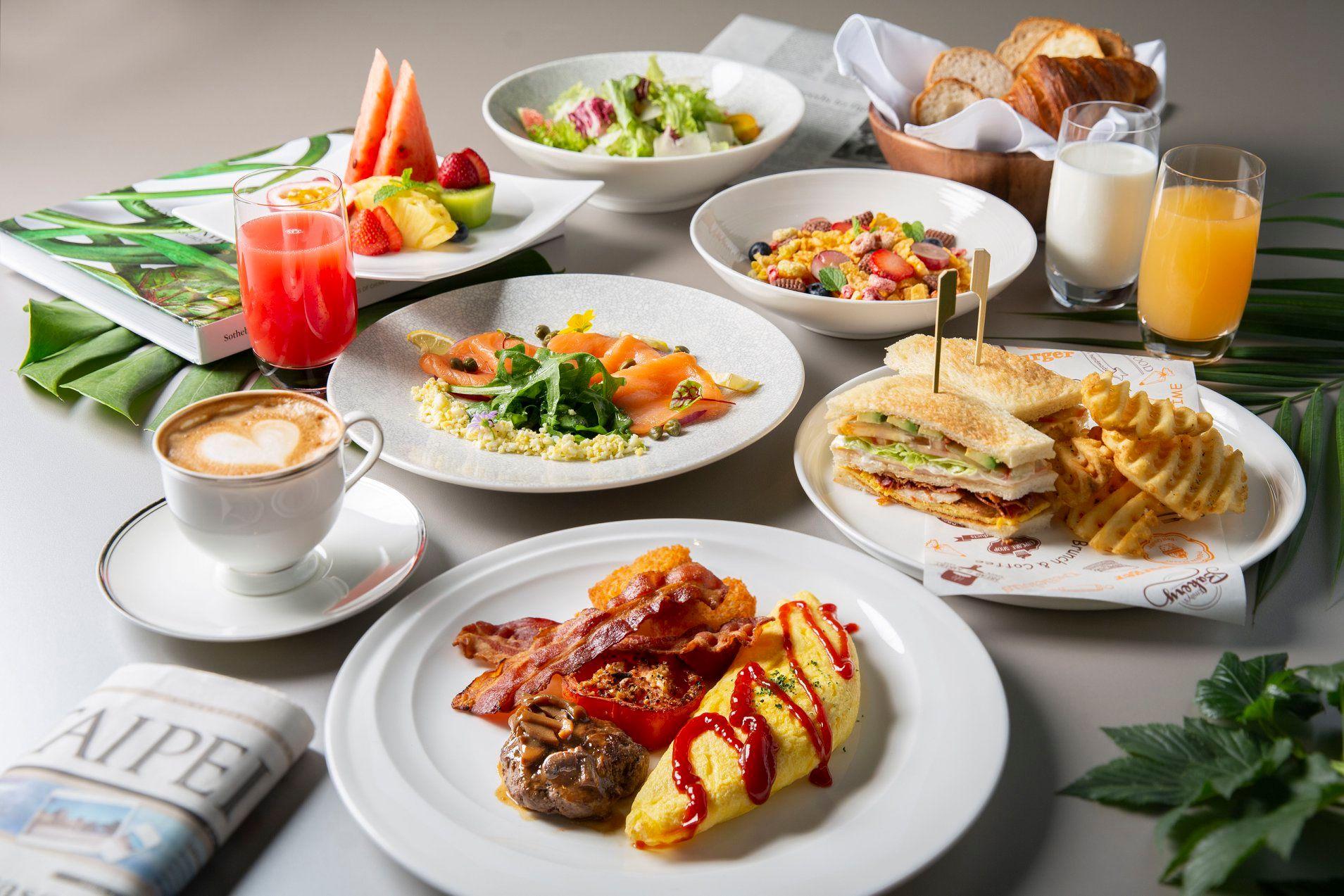 週末推出半自助式早午餐,假日犒賞平日的辛勞。