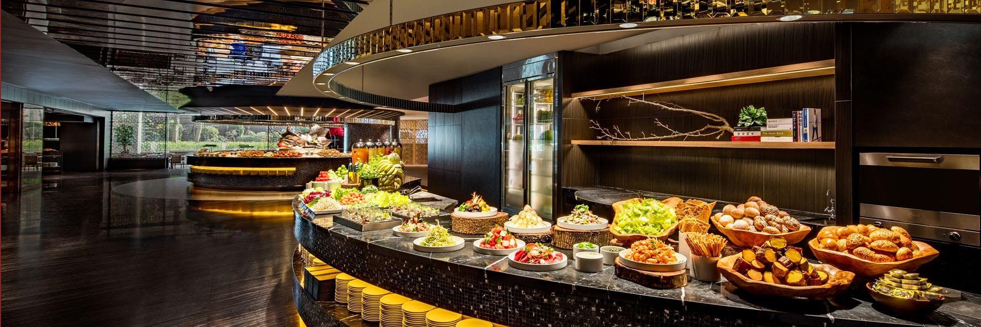 栢麗廳的自助吧料理,品質和種類同等講究。