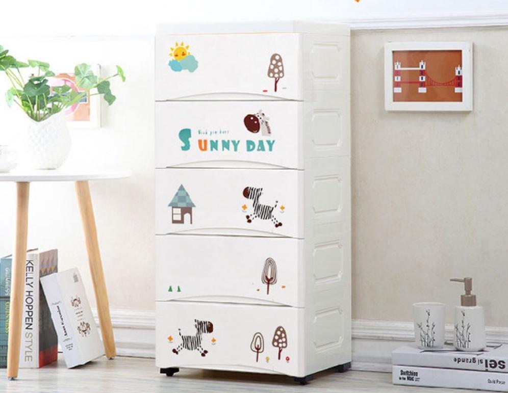 ▲兒童房佈置推薦,五層大容量童趣收納櫃。( 圖片來源:Yahoo購物中心)