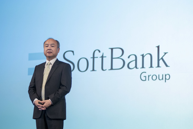 Masayoshi Son, chairman and chief executive officer of SoftBank Group Corp., speaks during a news conference in Tokyo, Japan, on Wednesday, Feb. 12, 2020. SoftBanklost money in its Vision Fund, the Japanese company posted a record. (Photo by Alessandro Di Ciommo/NurPhoto via Getty Images)