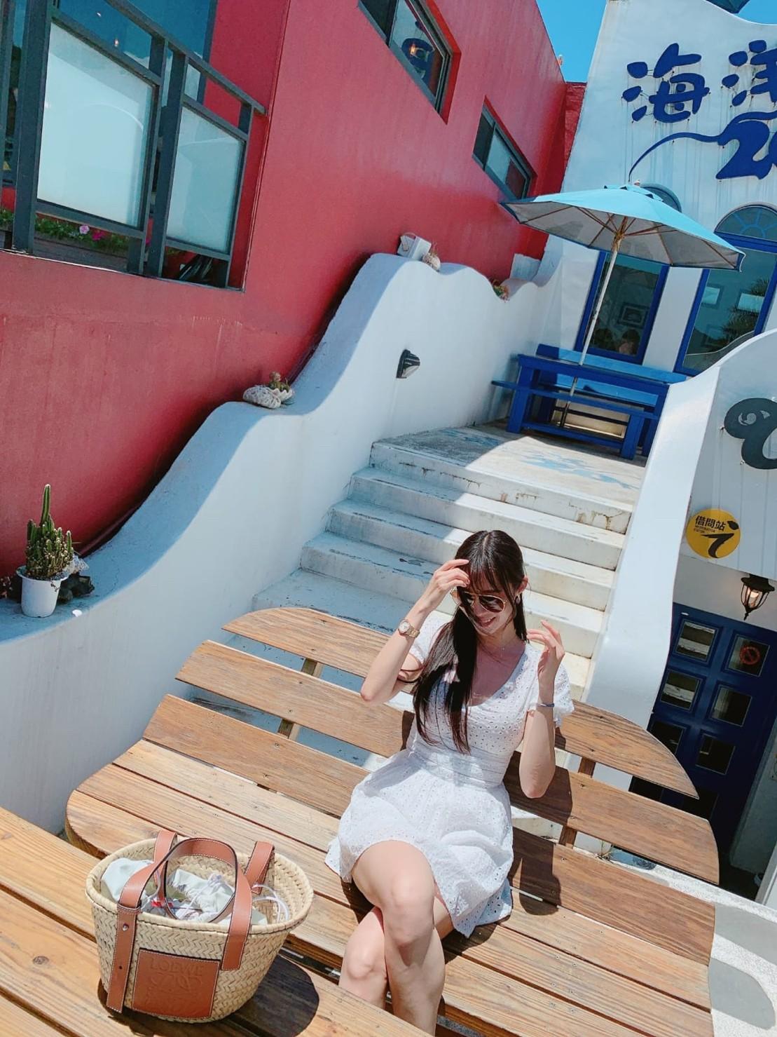 ▲平時出去玩時,康茵茵也會特別挑選漂亮的咖啡廳。!