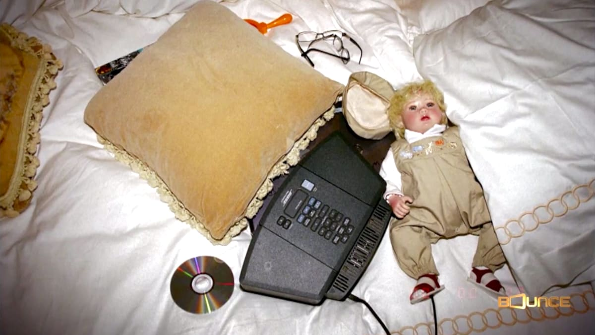 A photo of a baby seen on Michael Jackson's bed in the documentary Killing Michael Jackson. (Photo: Bounce)