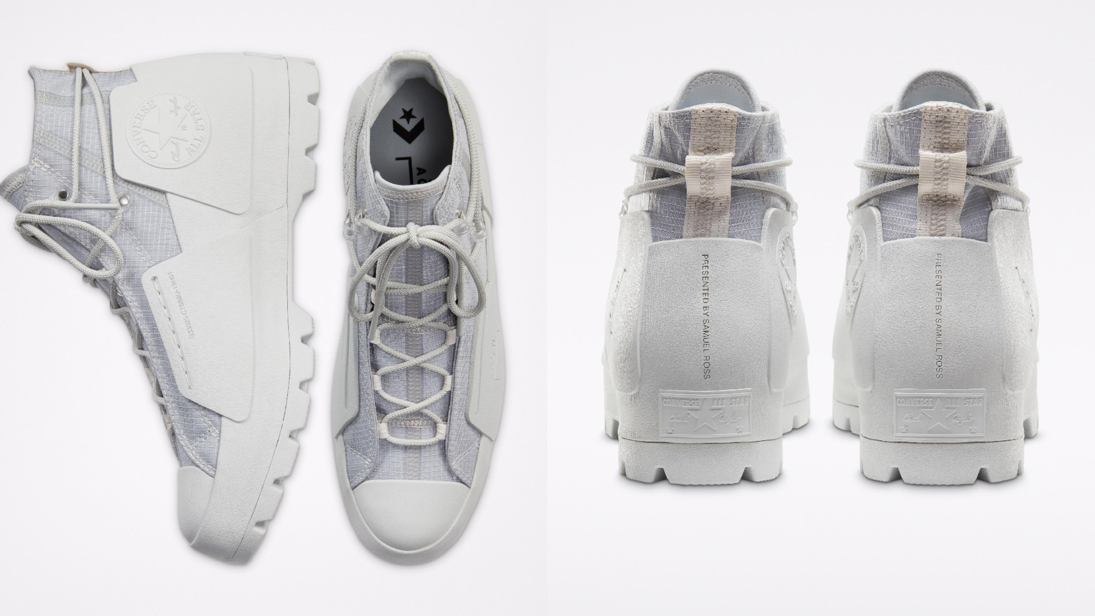 鞋款均採用象徵中性和大地元素的灰色作為底色