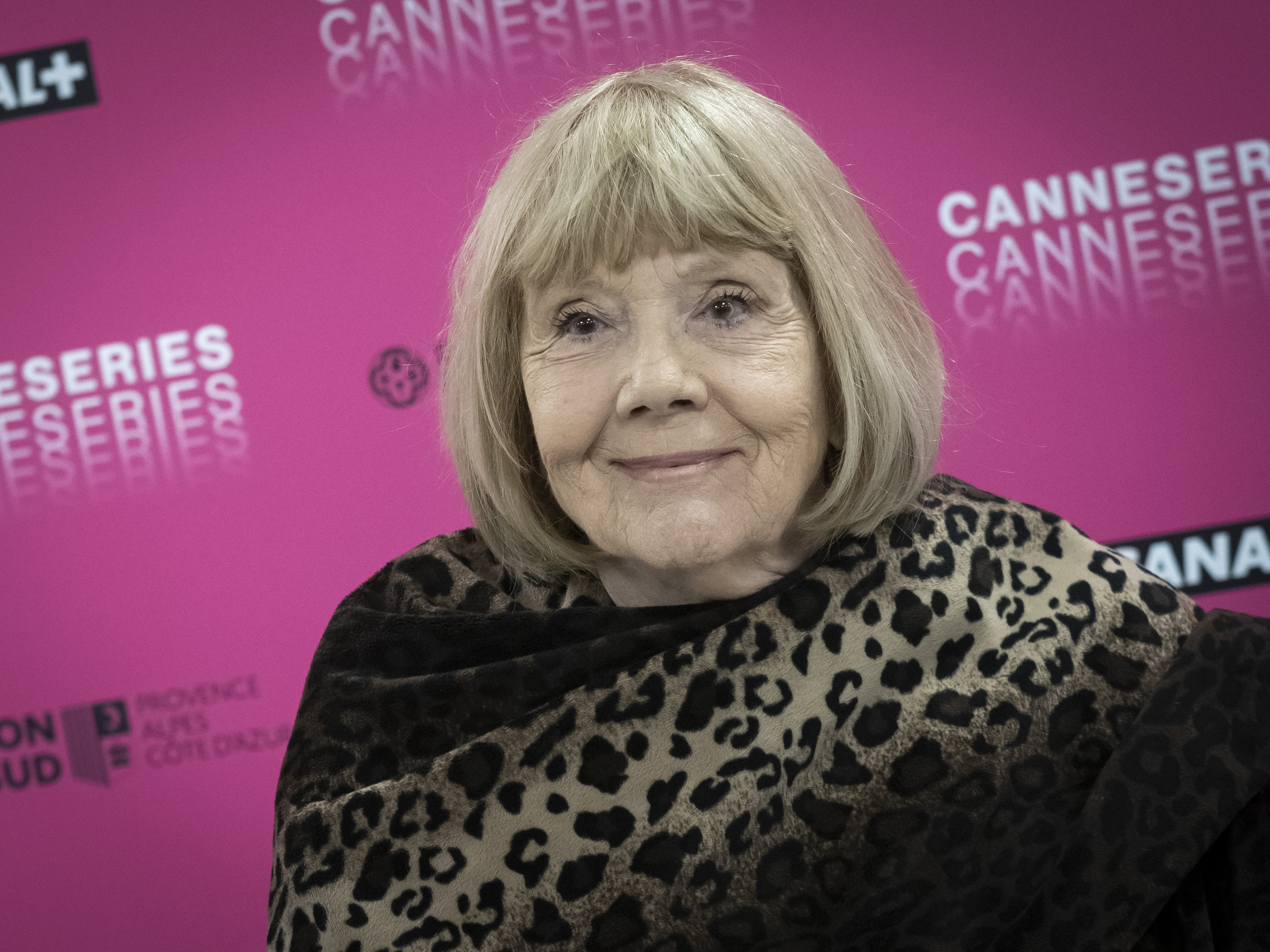 CANNES, FRANCE - APRIL 06: Dame Diana Rigg attends her masterclass during the 2nd Canneseries International Series Festival : day two on April 06, 2019 in Cannes, France. (Photo by Arnold Jerocki/Getty Images)