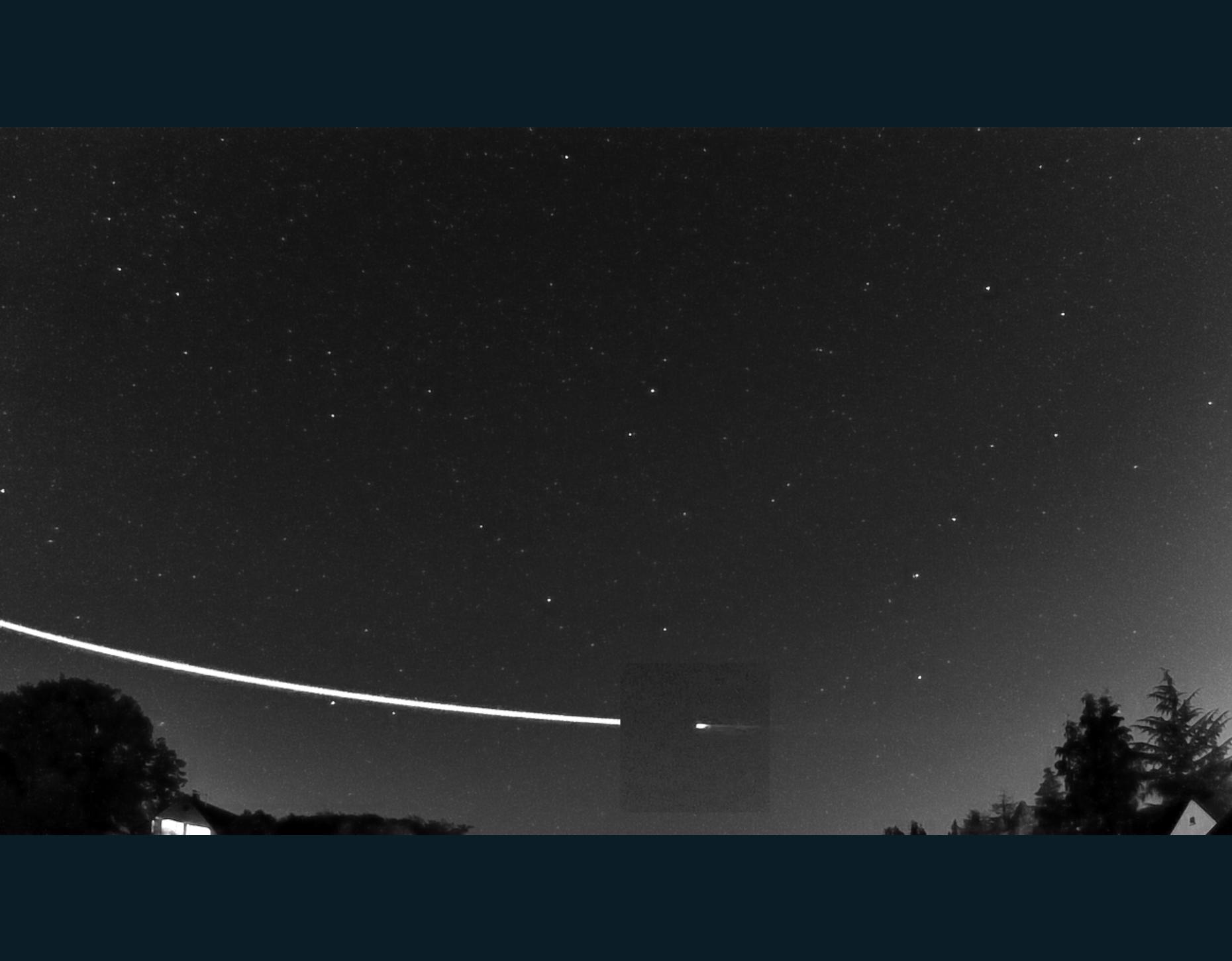 The earthgrazer streaked across the sky above Germany (ESA)