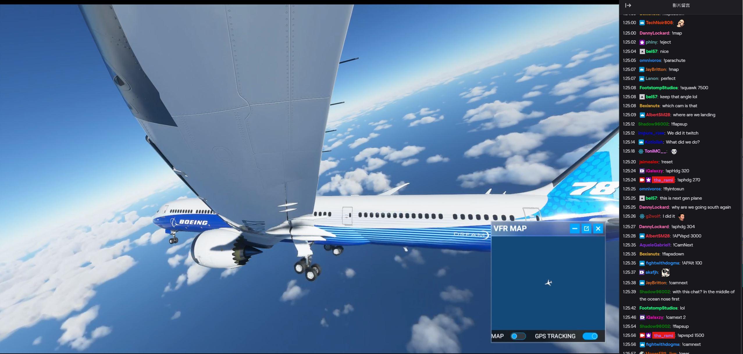 從頭到尾飛機的輪子都沒收進去XD(圖源:Twitch/tha_rami)