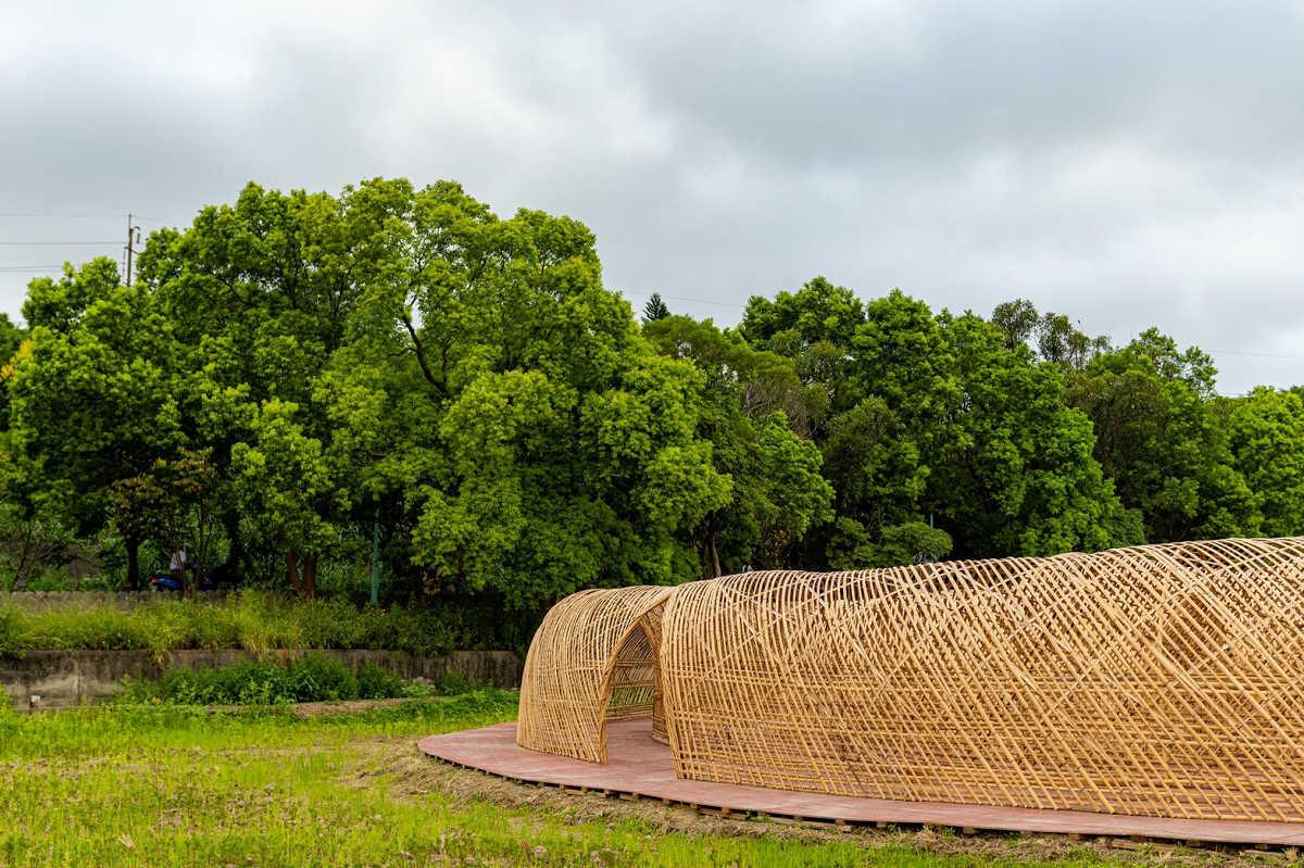 高雙陂塘漣漪迷宮作品(圖片來源:桃園市政府)