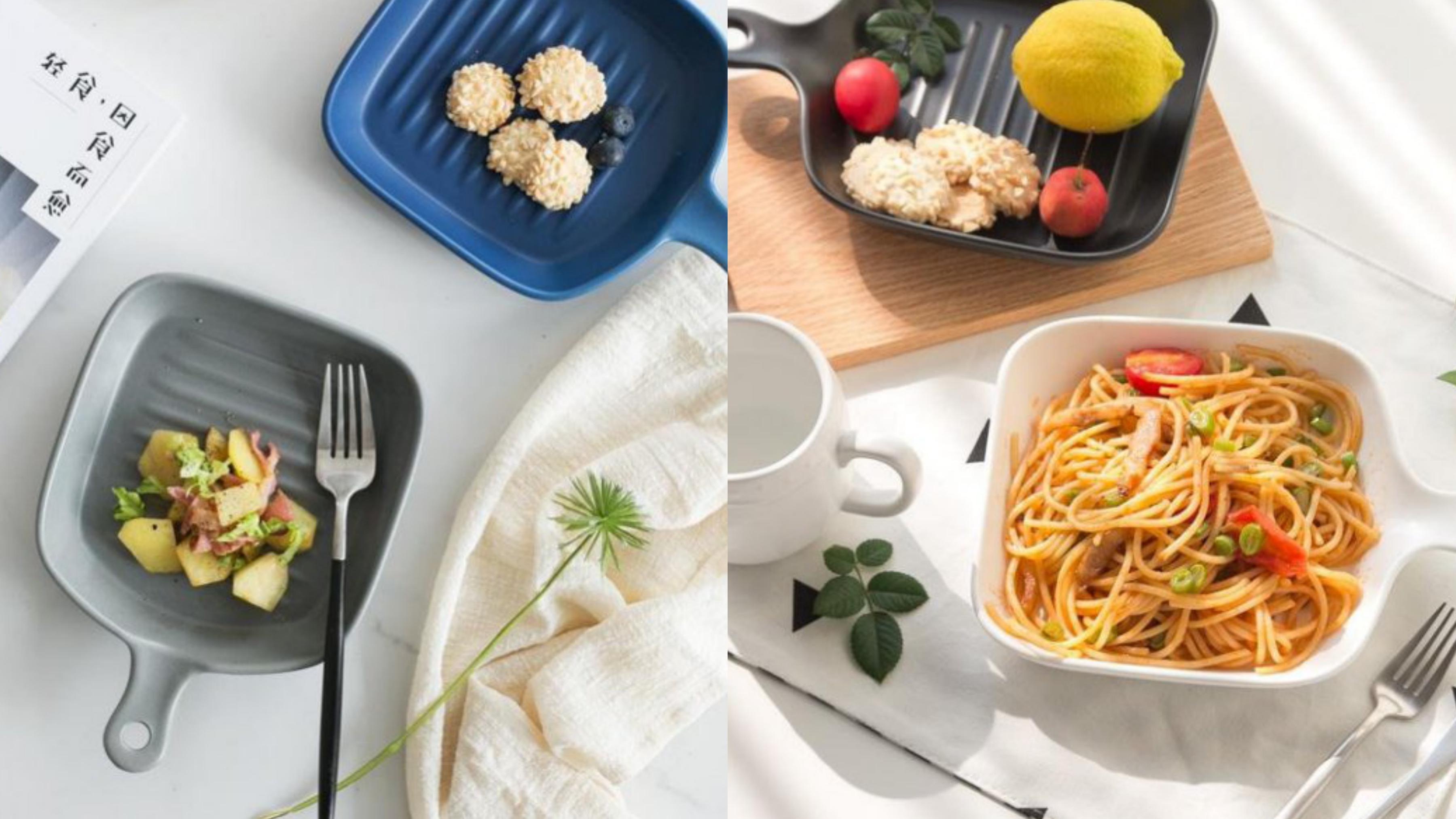 質感的磨砂亞光職人手作餐盤,低調迷人的色系