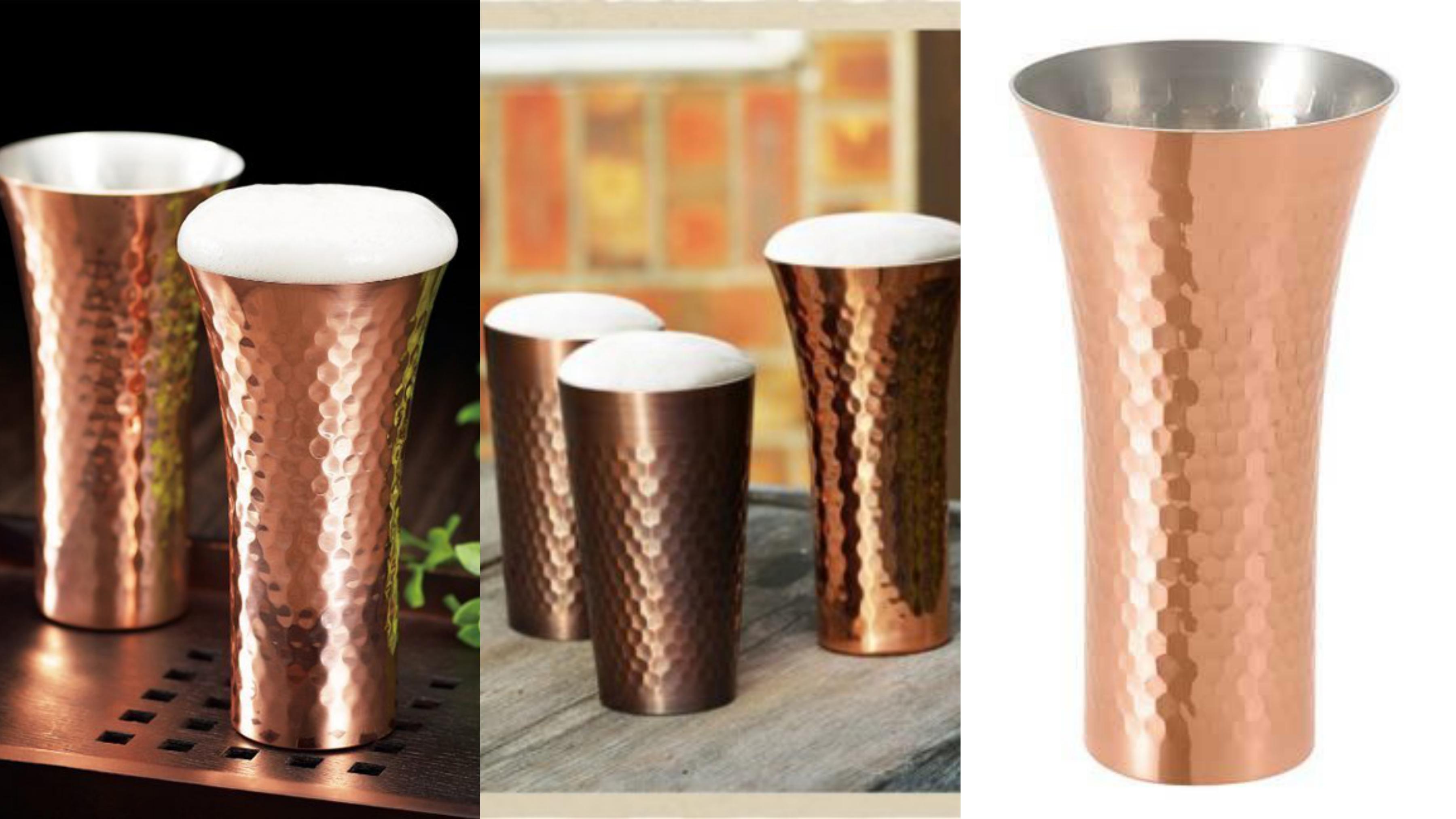 日本工匠純手工拋光製作,日本銅杯適合冷飲或常溫的飲料