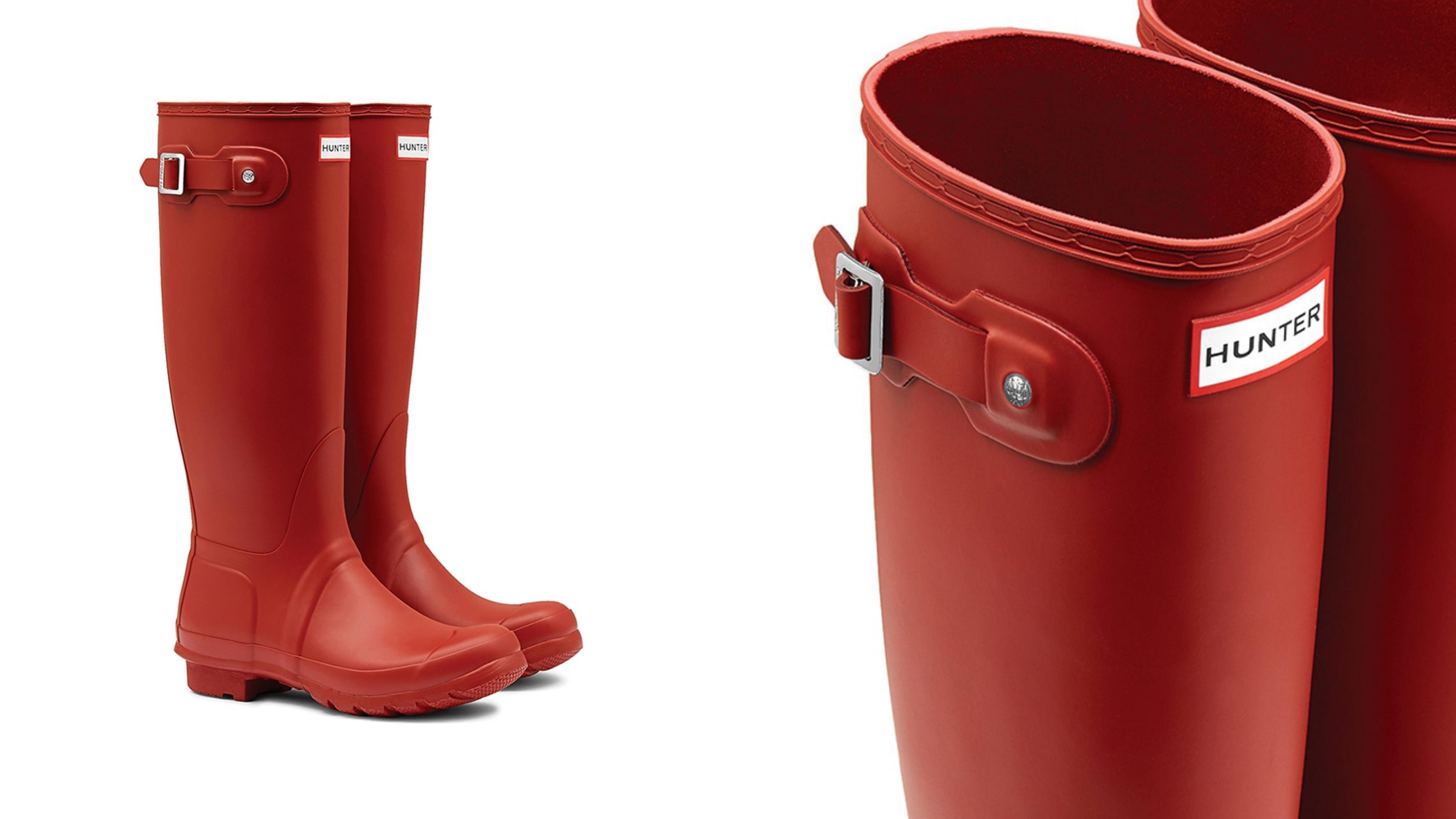 這款惠靈頓女靴便是Hunter Original品牌的核心,非常適合在潮濕的天氣條件下穿著