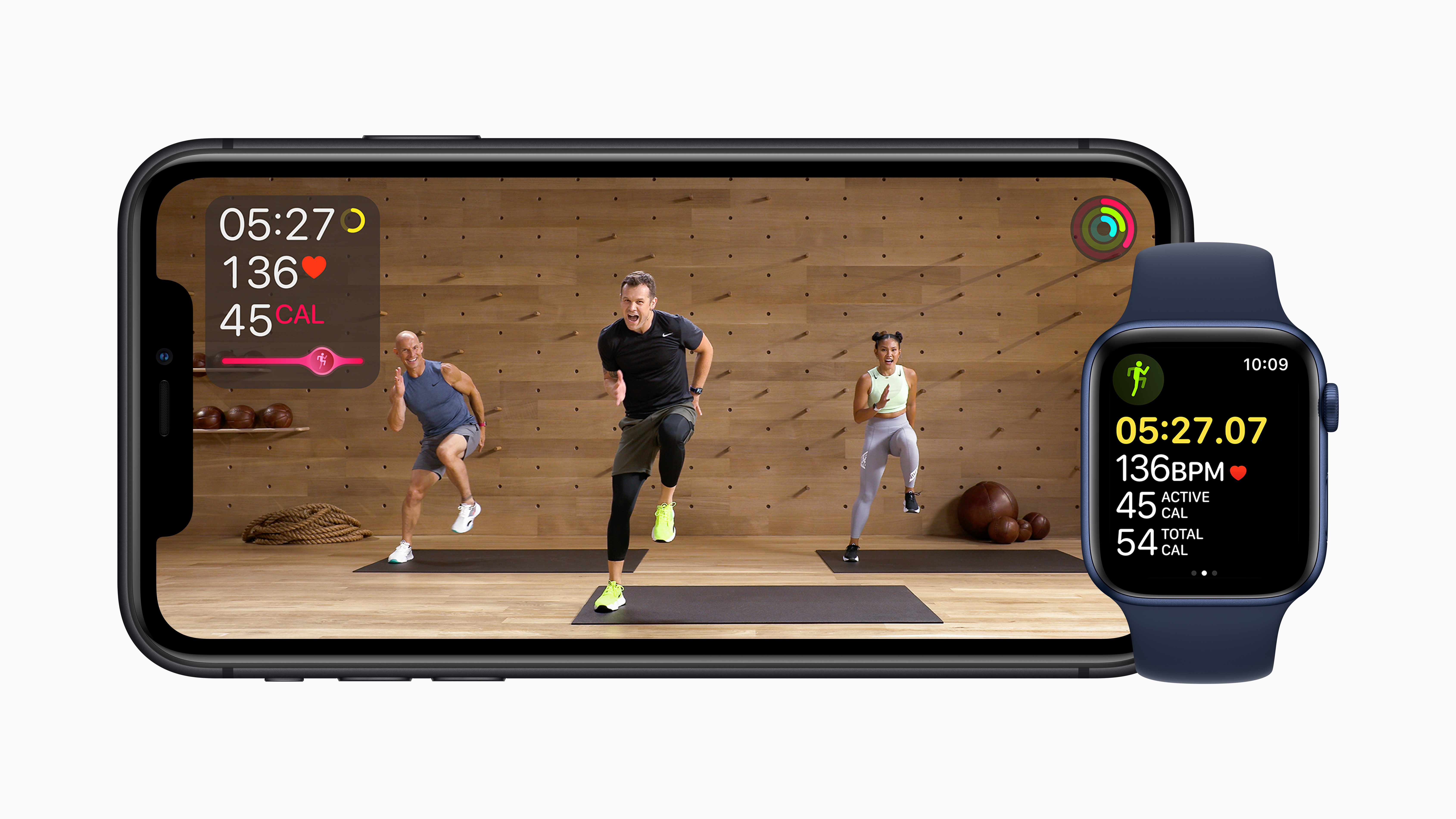 Apple's new fitness app uses the Apple Watch's data to enhance the experience. (Apple)