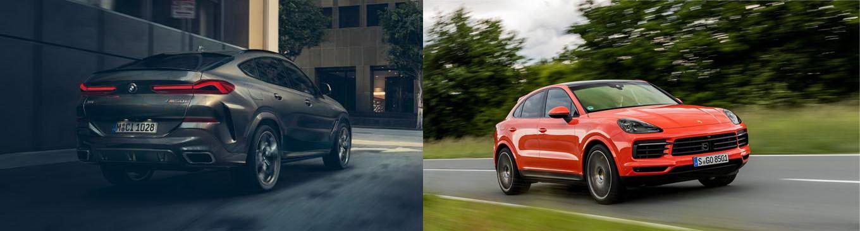 圖/BMW X6 xDrive40i與Porsche Cayenne Coupe V6之豪華運動跑旅對決。