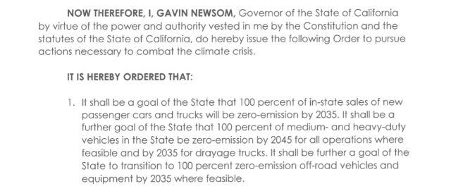 Gavin Newsom EO