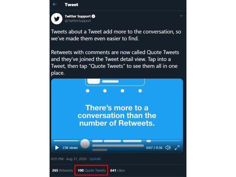 Twitter - Quote Tweet counter