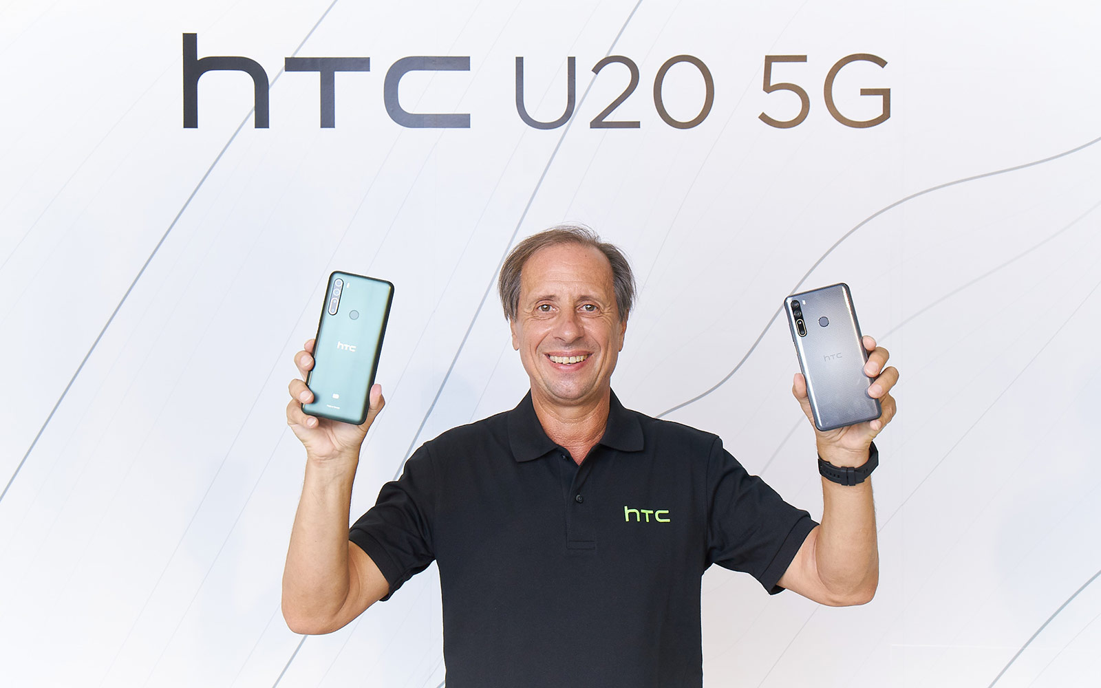 Former HTC President and CEO Yves Maitre at the U20 5G launch event in Taipei.