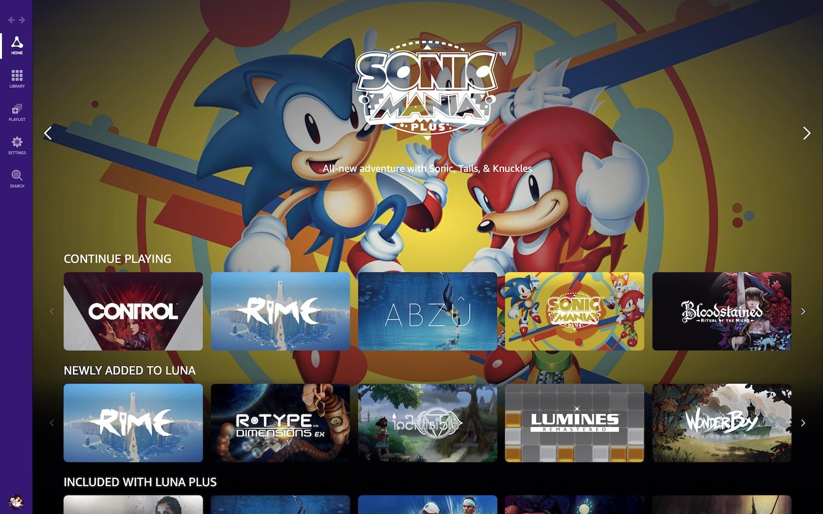 AmazonのクラウドゲームサービスであるLuna。