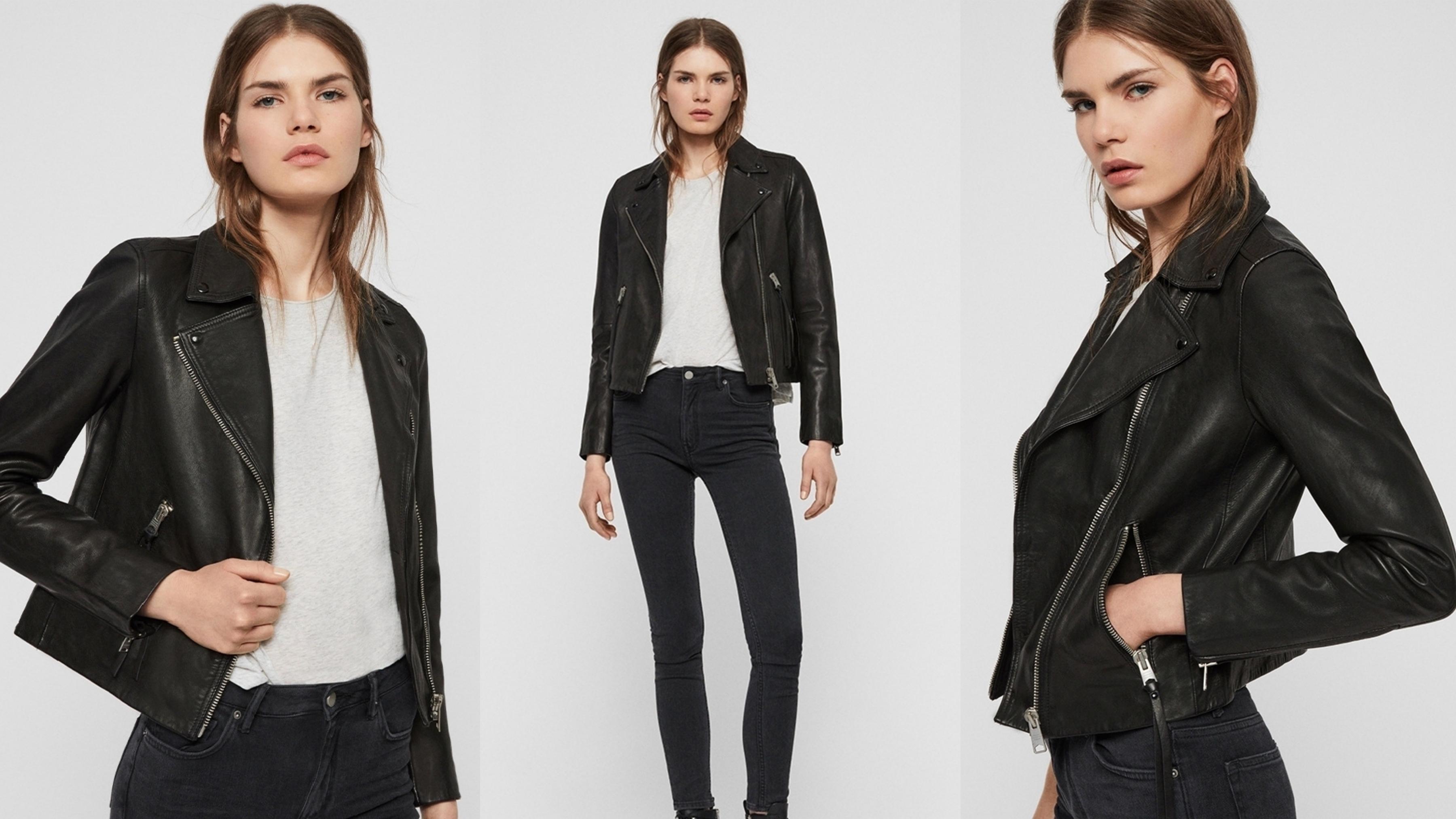靈感來自經典的騎士皮衣,搭配雙口袋及不對稱拉鍊,整體呈現極簡主義