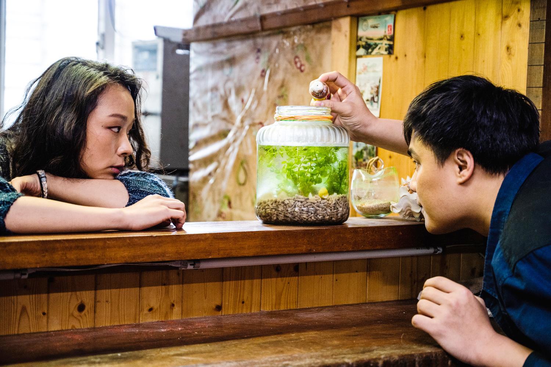 余佩真和吳宏修在《戀愛好好說》演出第三段愛情《撩亂》