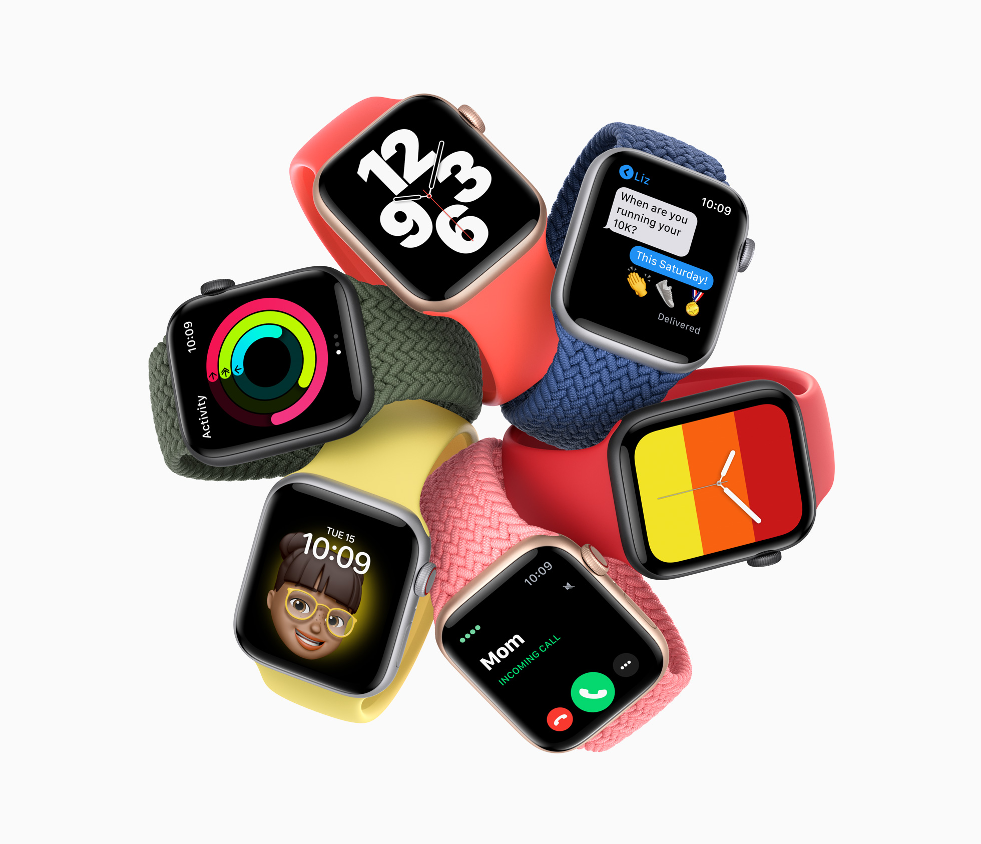 The Apple Watch SE is a new mid-range Apple Watch with many of the features found on the more expensive Apple Watch Series 6. (Image: Apple)