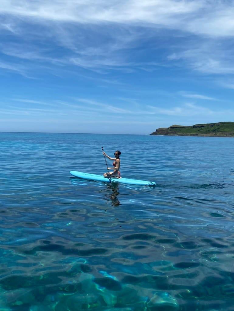 ▲除了水上活動,康茵茵也造訪不少澎湖的知名景點。
