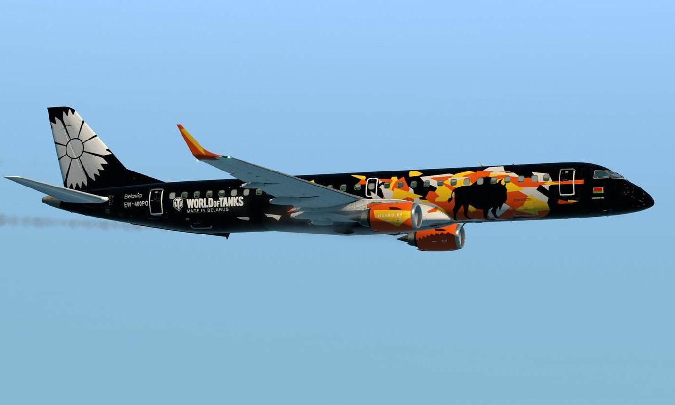 飛機上印有《戰車世界》LOGO。