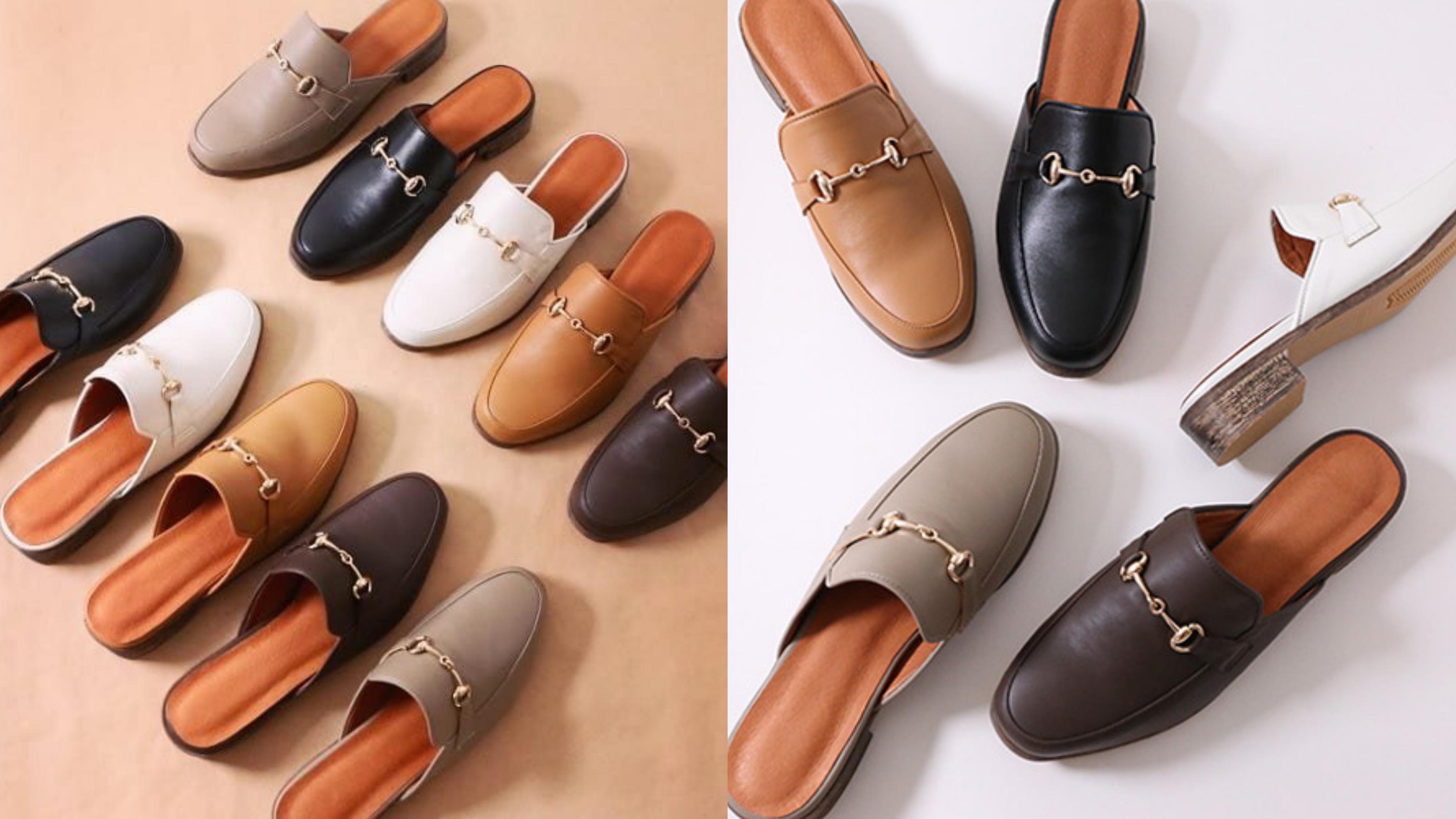 MIT台灣手工鞋,馬銜鍊前包後空懶人鞋設計