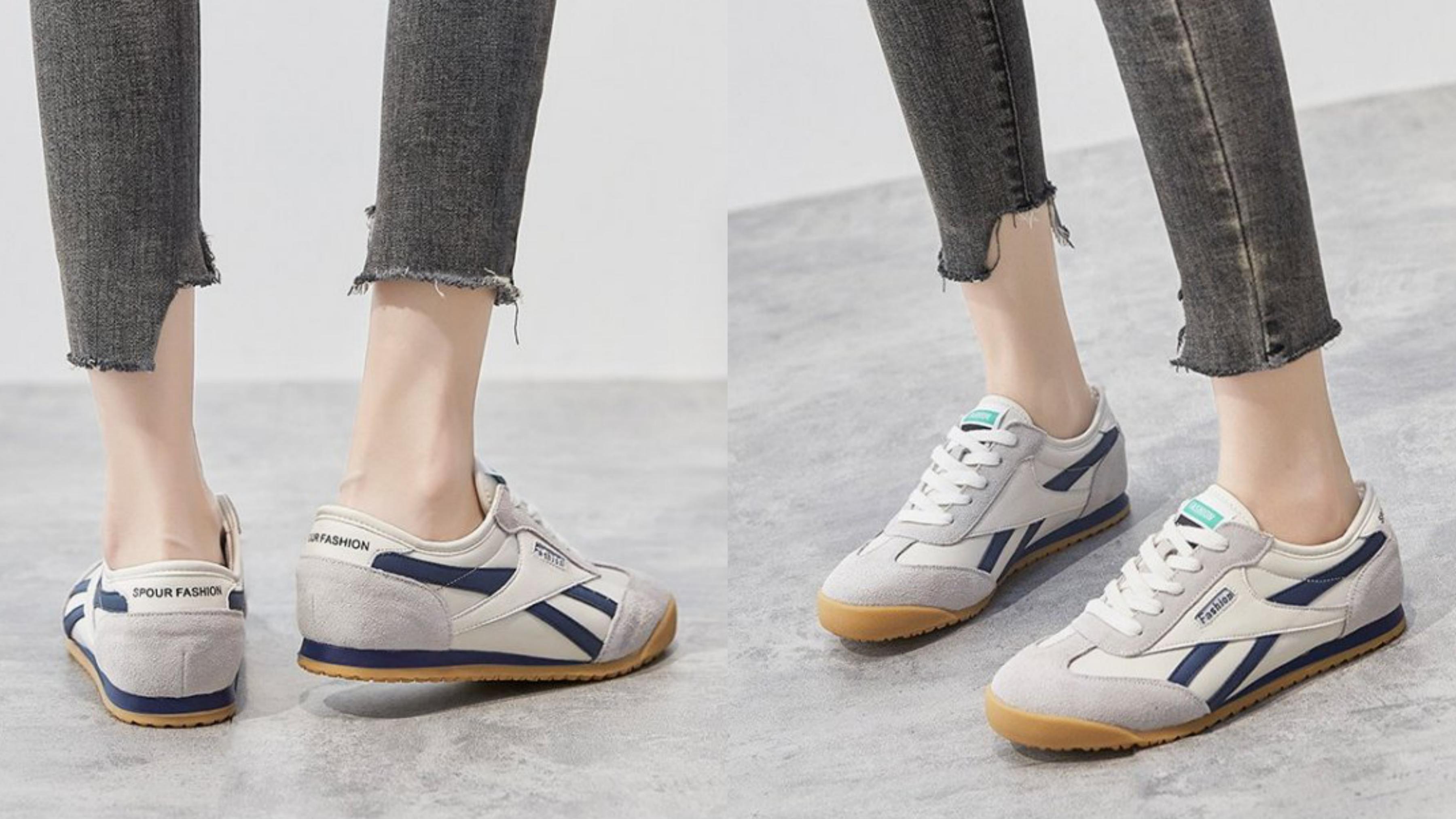 韓版的窄型鞋頭造型,可以修飾過寬的腳型,還能拉長腿部線條