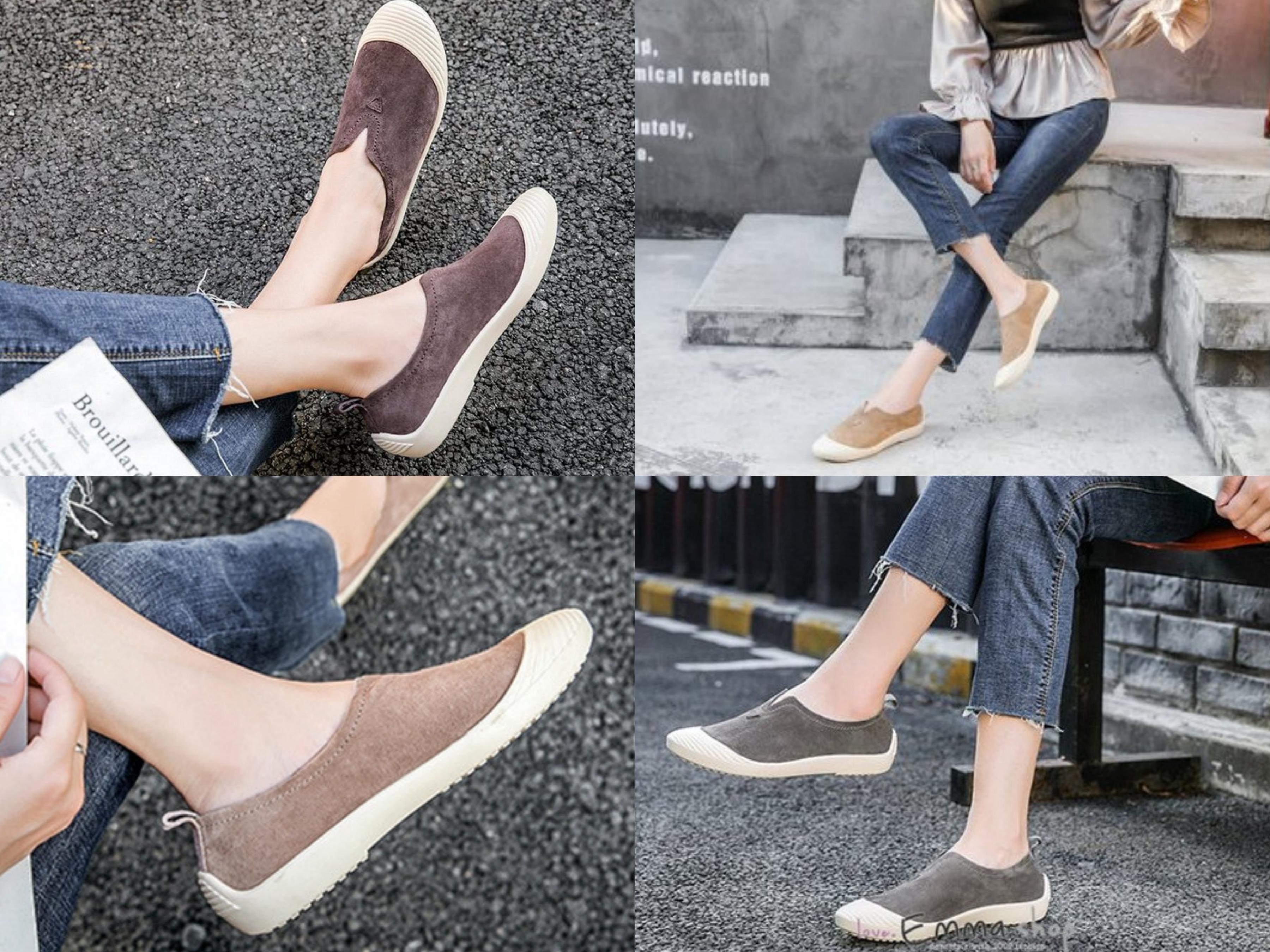 早秋新品正韓同步的熱銷款,好穿又好搭的真皮便鞋,不只做工用心、鞋型也很美