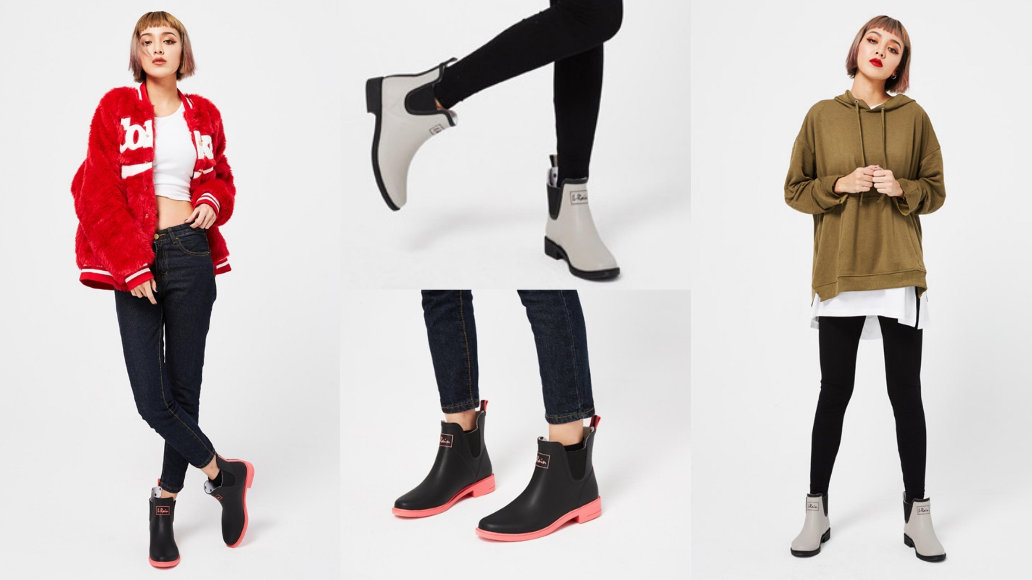 非常不挑人的一款短筒雨靴,可以很休閒也可以很個性