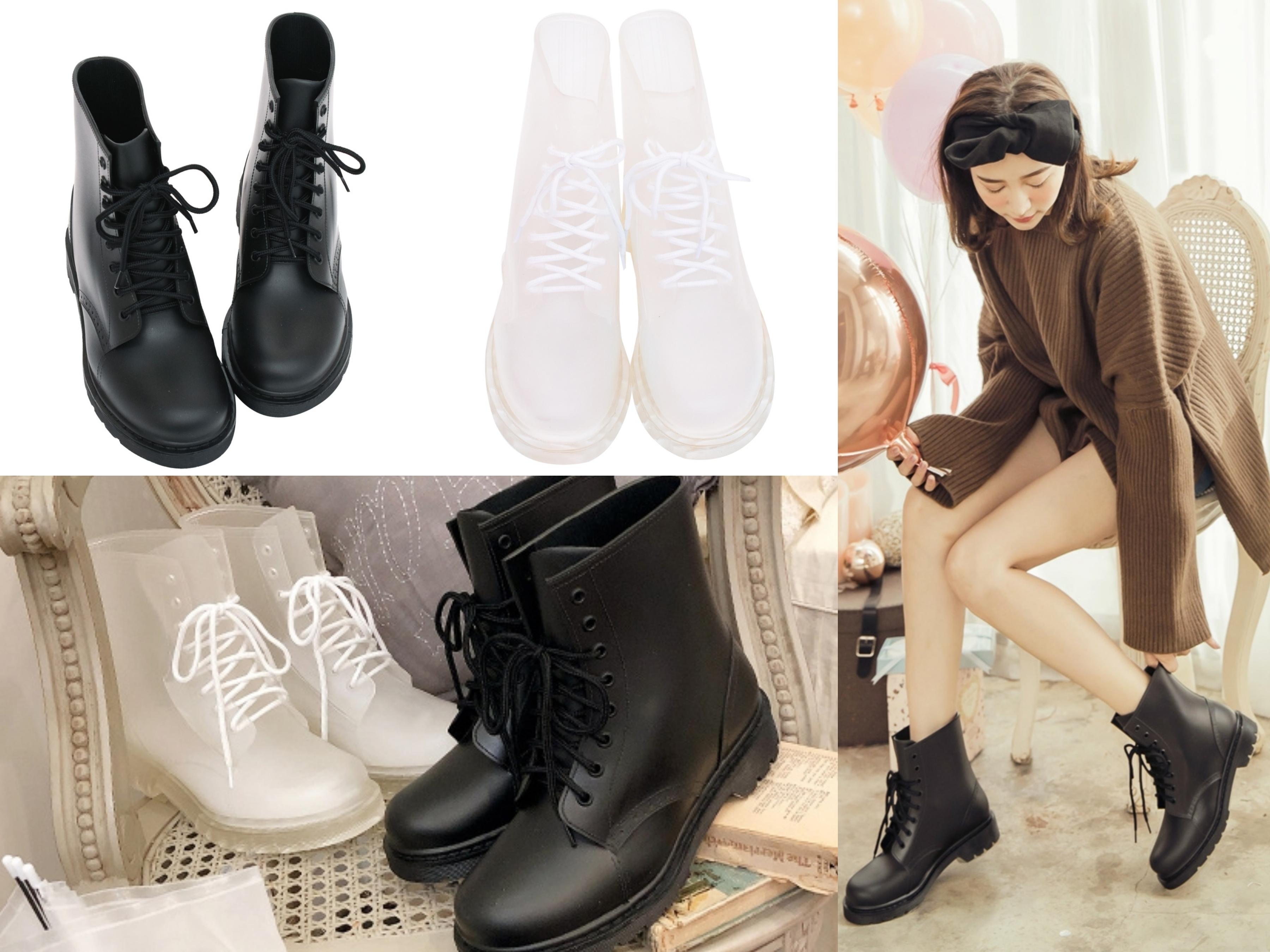 獨家推出低調又時髦的雨靴款式,選用厚實PVC防水材質不再擔心下雨天