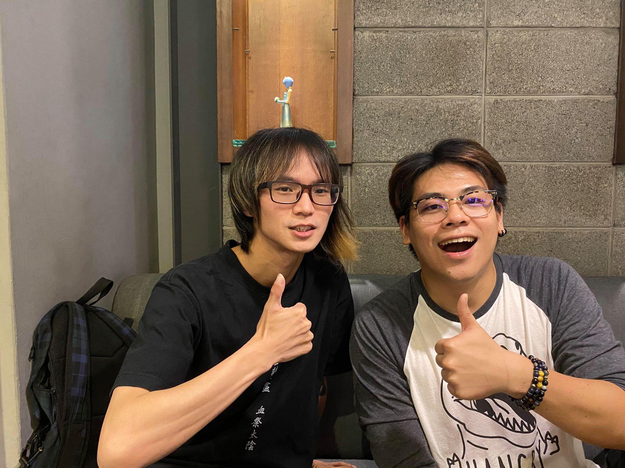 《自由新鎮 1.5 舞台劇~戀愛之神與祂的背叛者們~》製作人 Mardy (左)與導演蘇志翔(右)