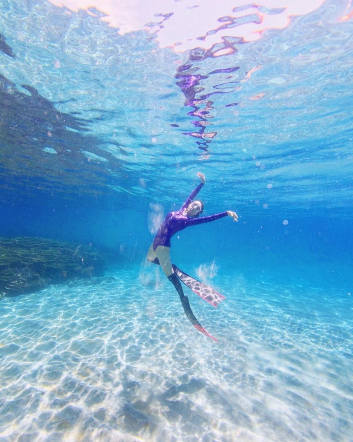 ▲經過這趟澎湖行,讓康茵茵更喜愛自由潛水的感覺。