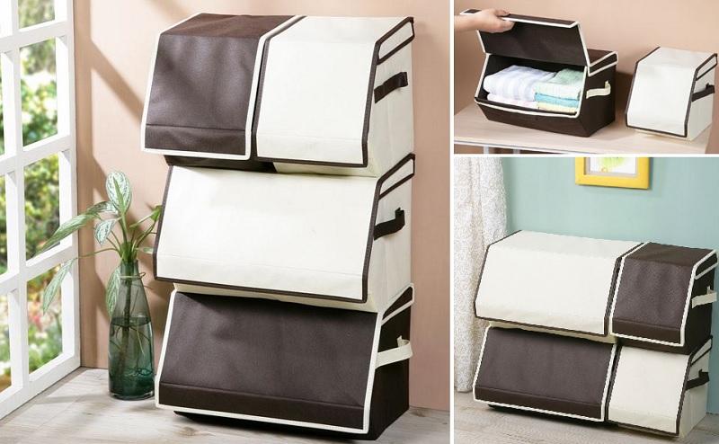 ▲巴布收納箱2大+2小組合一次購齊,活動價$899,前開取物超方便。(圖片來源:Yahoo購物中心)