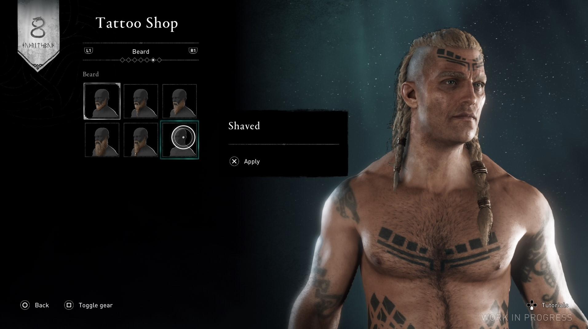 刺青店也可以改變髮型、鬍子外觀等造型