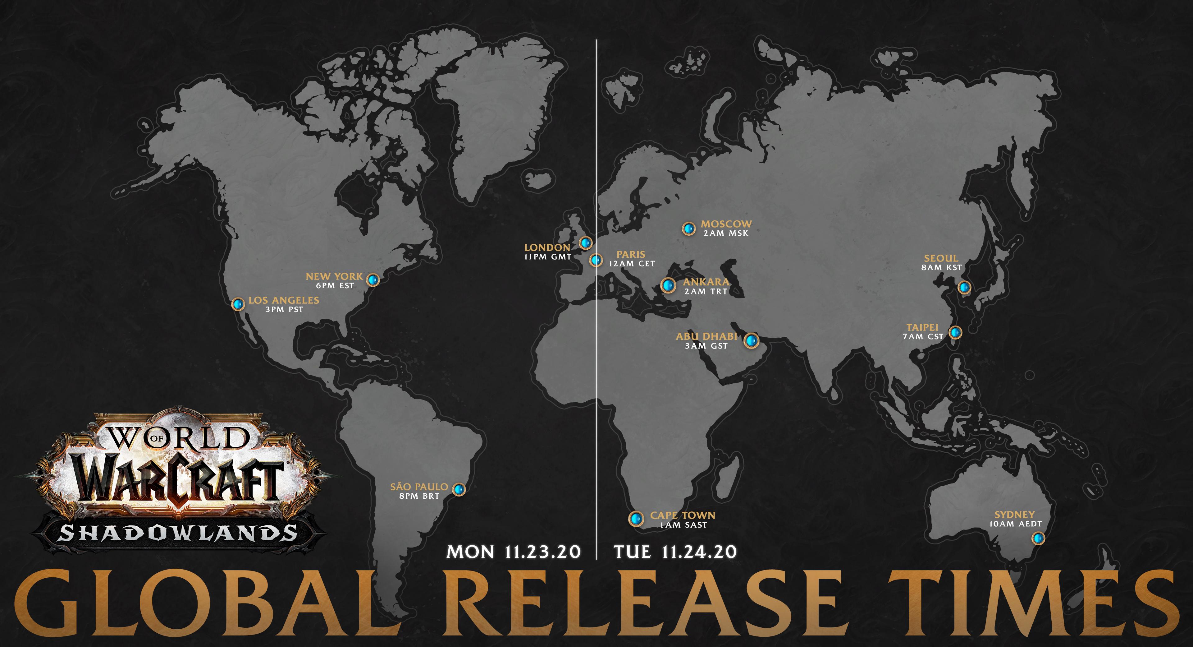 《魔獸世界®:暗影之境》將於 11 月 24 日推出
