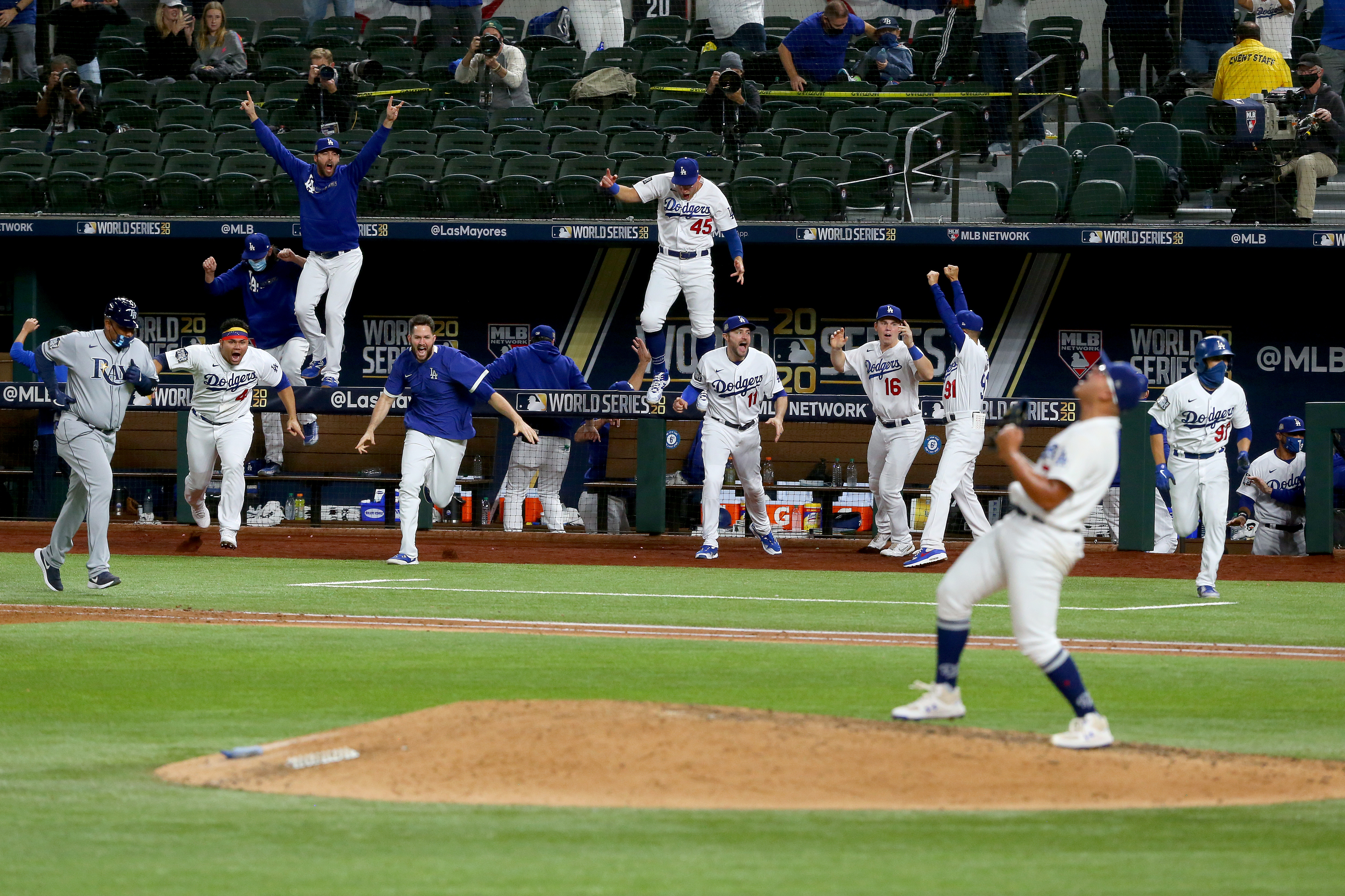 The Dodgers are the odds on favorite to win the World Series again in 2021. (Photo by Tom Pennington/Getty Images)
