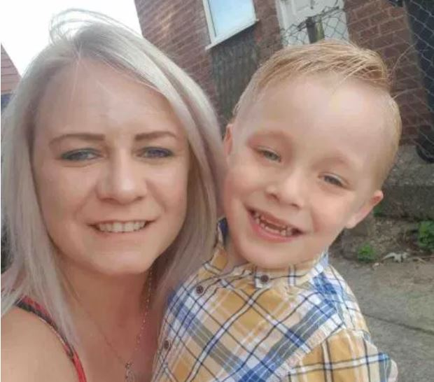 Katie Simms, 32, with her son Archie (Picture: GoFundMe)