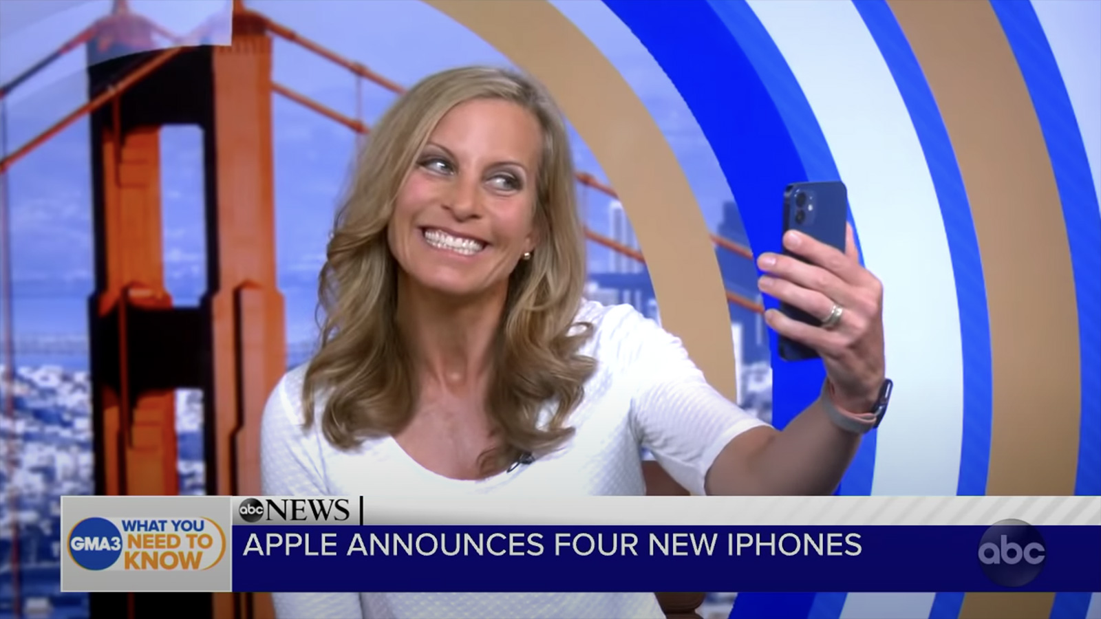 iPhone 12 makes an appearance on ABC's Good Morning American.