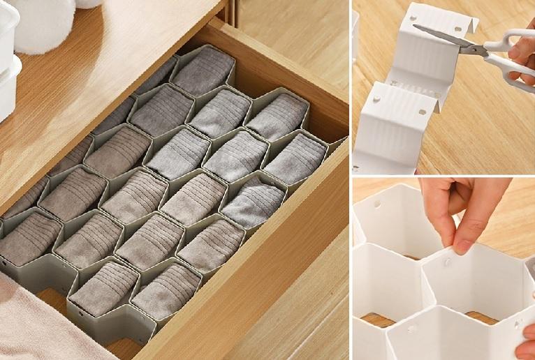 ▲抽屜蜂巢整理收納隔板,8入組只要4折起,怎麼隔自己DIY,專剋零碎物。(圖片來源:Yahoo購物中心)