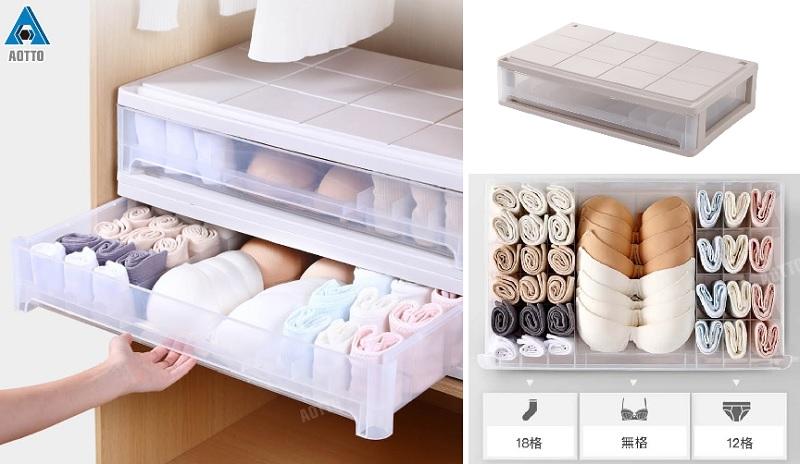 ▲抽屜式內在美分格整理收納箱,讓小物件整齊收納不鬧失蹤。(圖片來源:Yahoo購物中心)