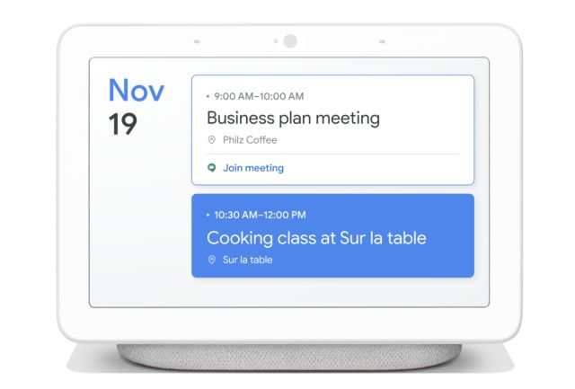 Google Smart Display UI