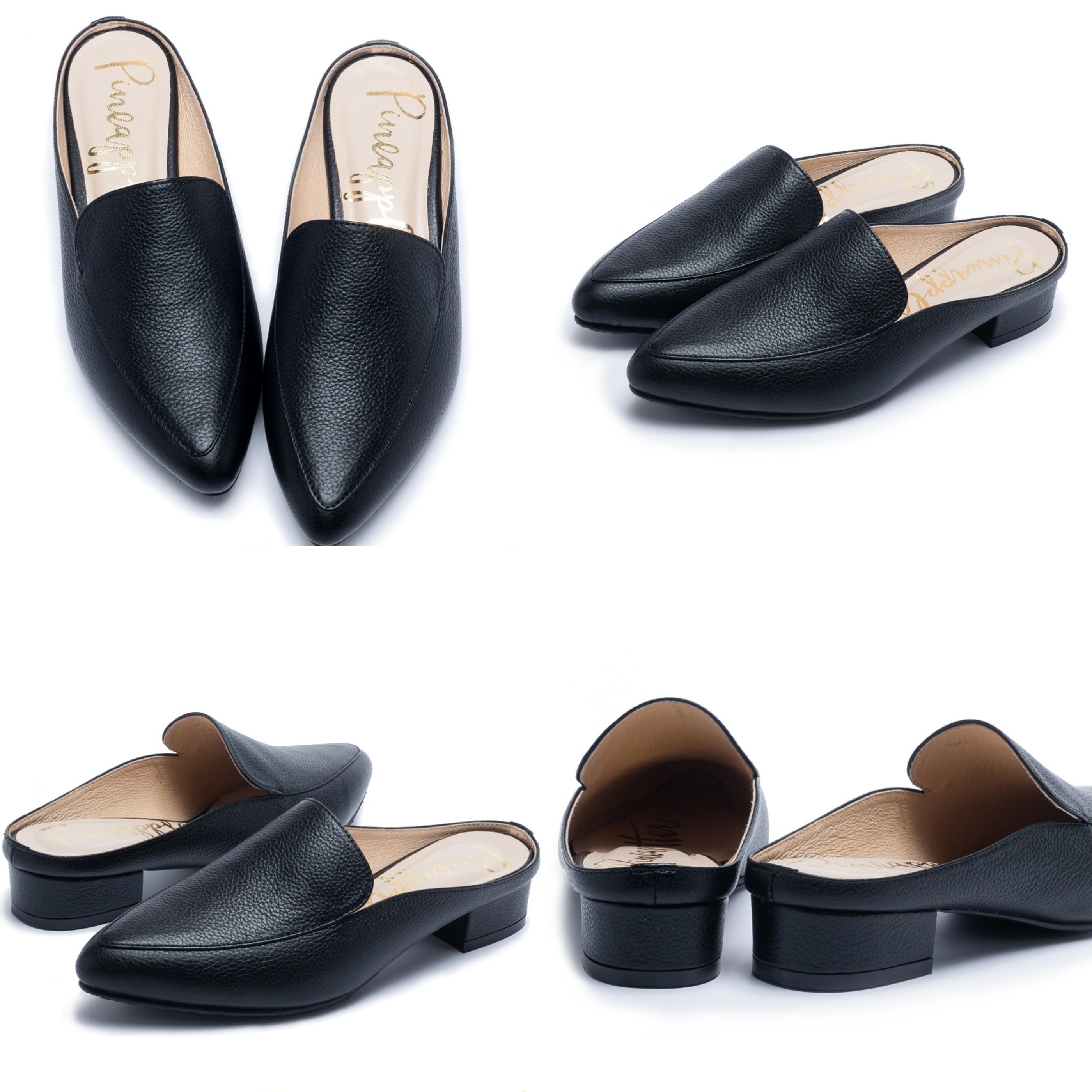 懶人最愛的穆勒鞋設計,套上就能好時髦,選擇黑色最百搭又不退流行