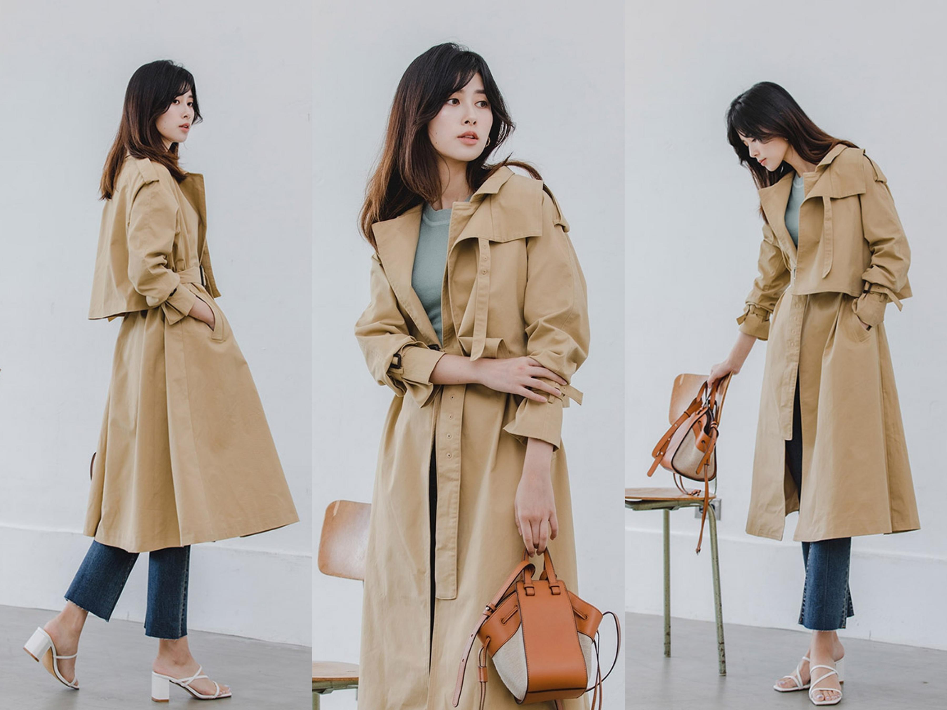 秋冬必備長版風衣外套,俐落剪裁提升穿著立體度