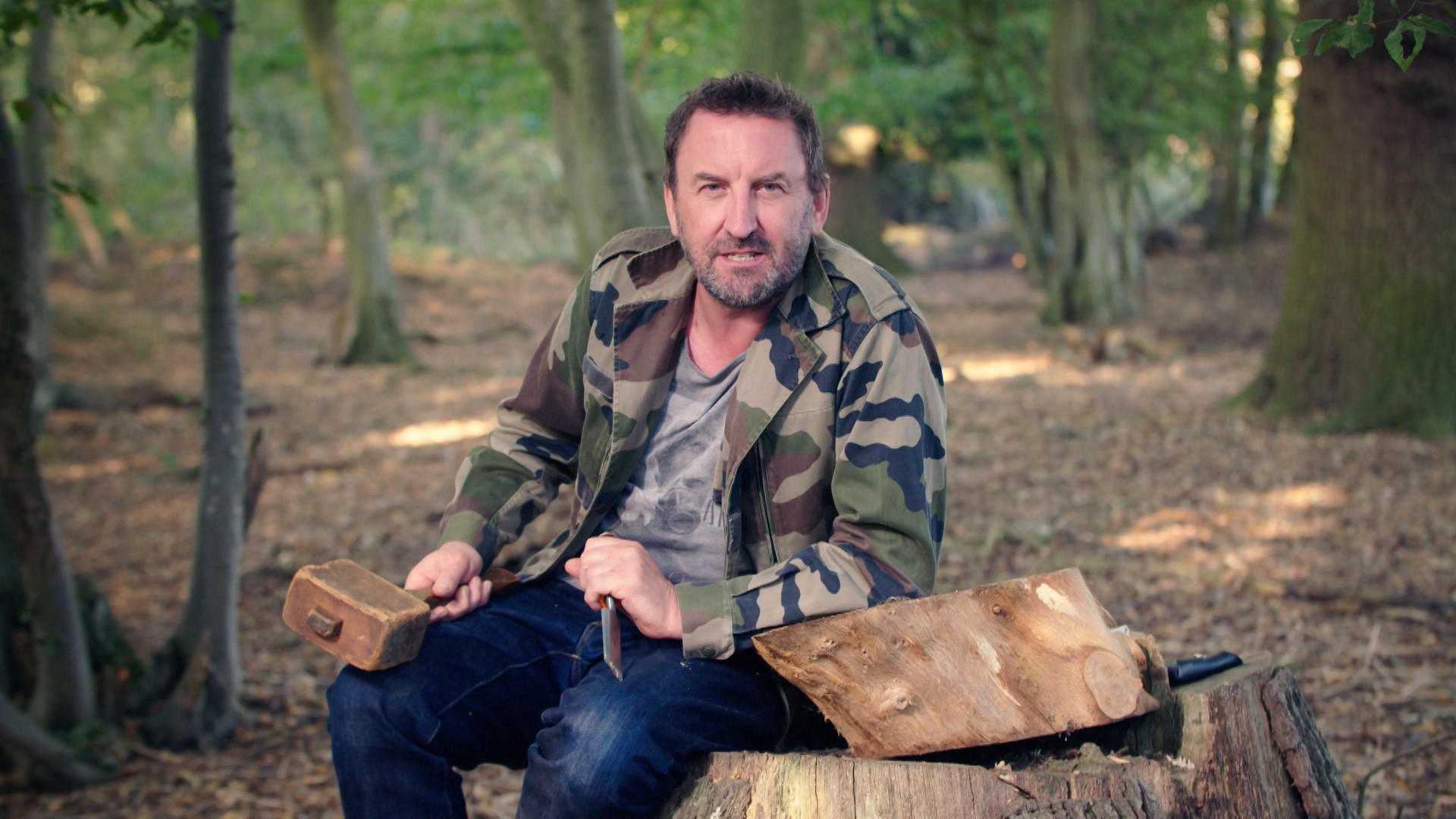 Lee Mack in a publicity still for The Chop. (© A&E Television Networks 1996-2020. All rights reserved.)
