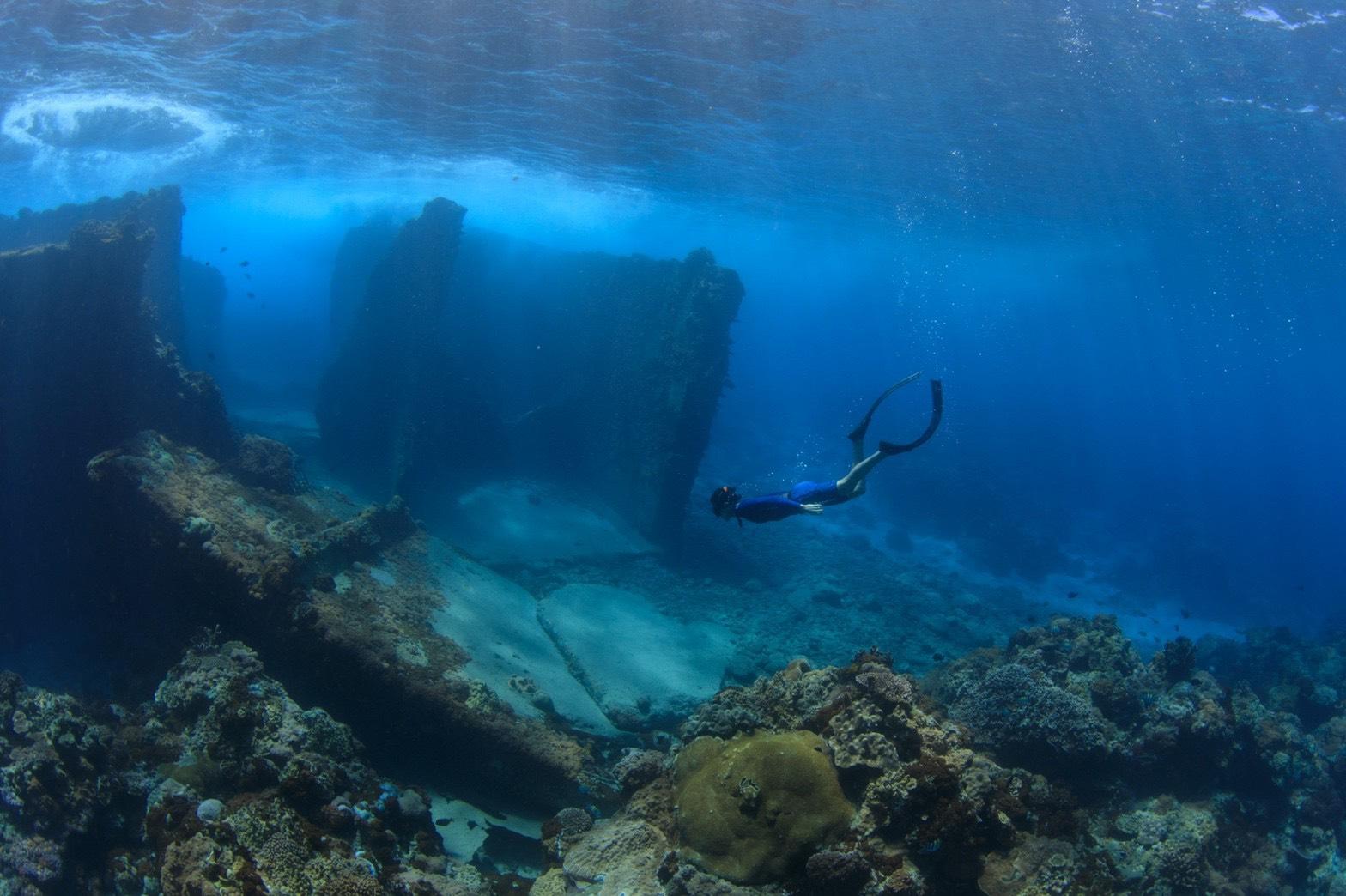 ▲前往亞特蘭提斯潛水,綠島海底之美令陳仲熙著迷。